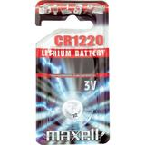 Maxell knappcellsbatteri, CR1220, Lithium, 3V, 1-pack